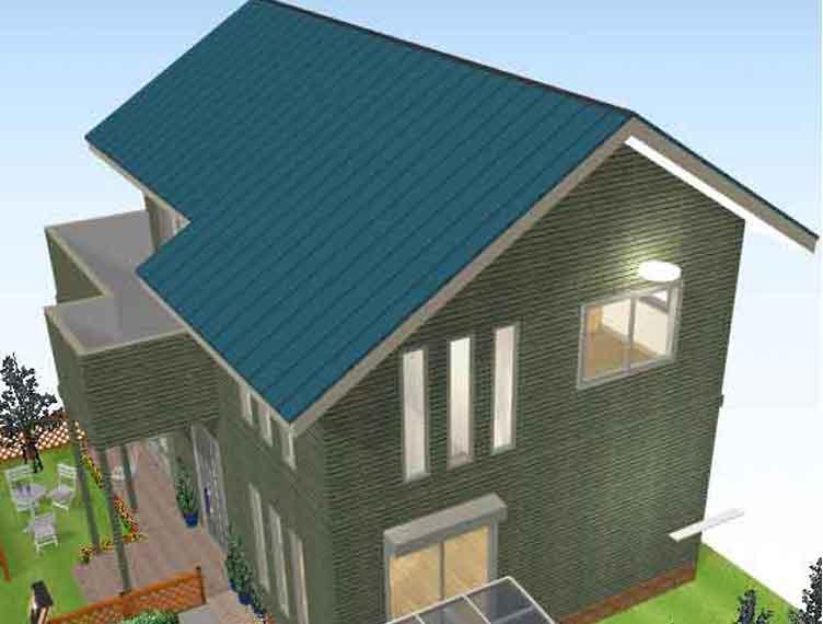 トタンの葺き替え屋根