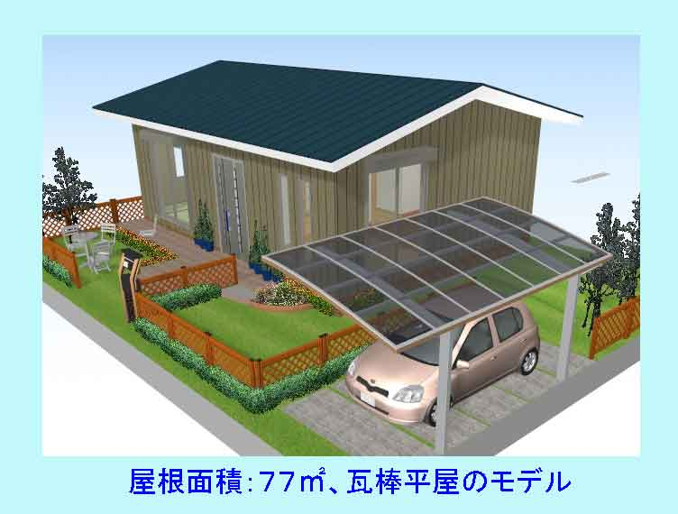 屋根面積77平米の家