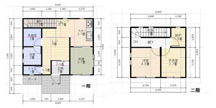 サンプル家の平面図