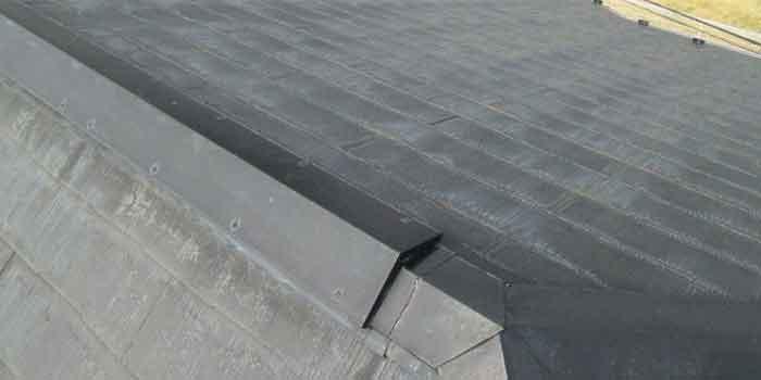事例:スレート葺き替え屋根全体様子