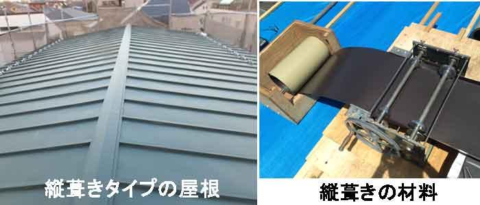 縦葺き、瓦棒の屋根と材料