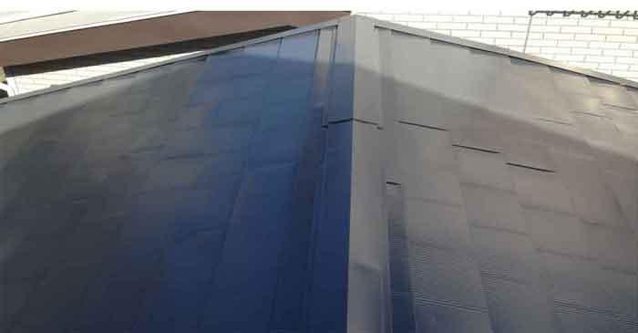 大棟から東のガルバリウム鋼板屋根