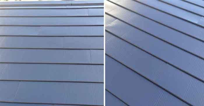 ガルバリウム鋼板施工拡大写真