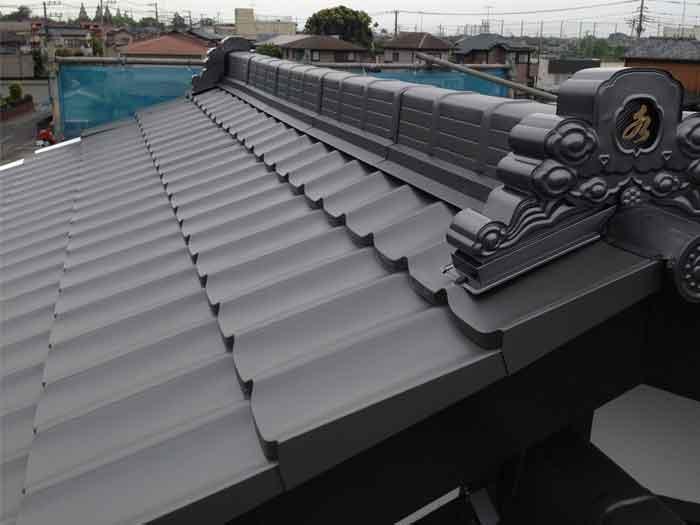 瓦調ガルバリウム鋼板完成