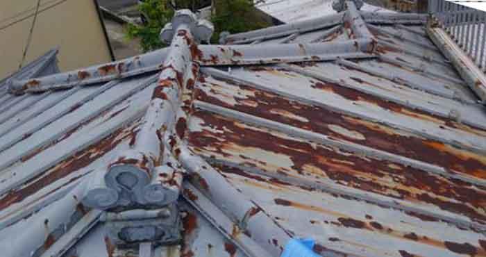 40年経過のトタン屋根
