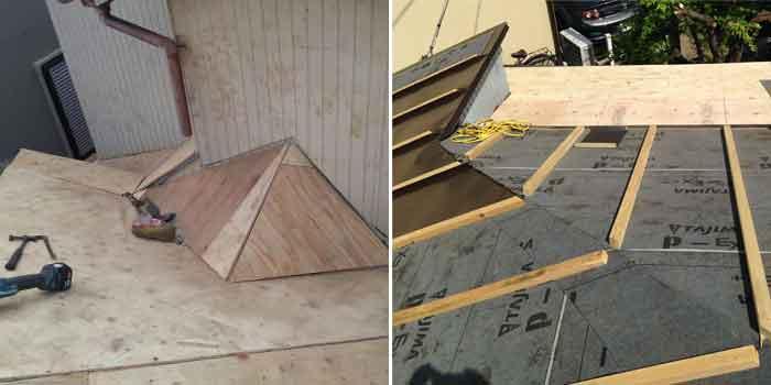 桟木の施工写真