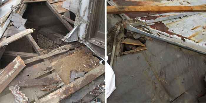 古いトタン屋根の劣化の様子1