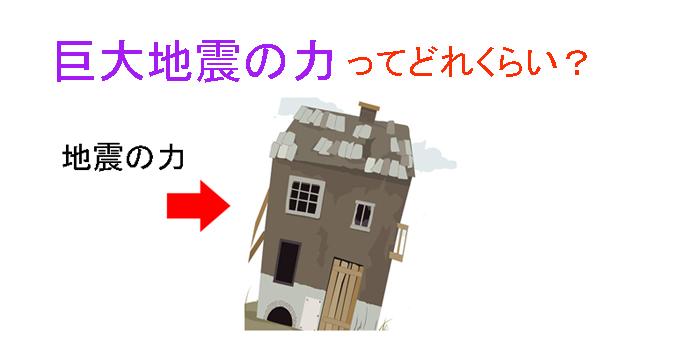 地震の力 家のモデル