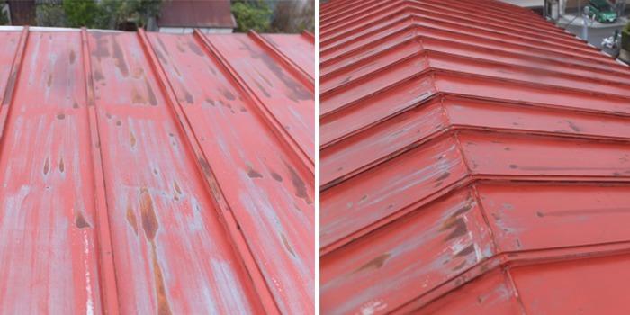 トタン屋根の劣化写真1