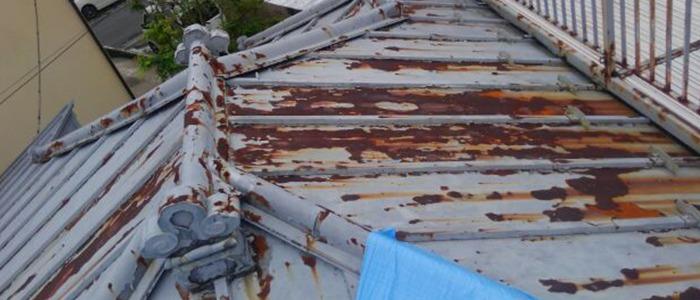 トタン屋根、40年経過の様子2
