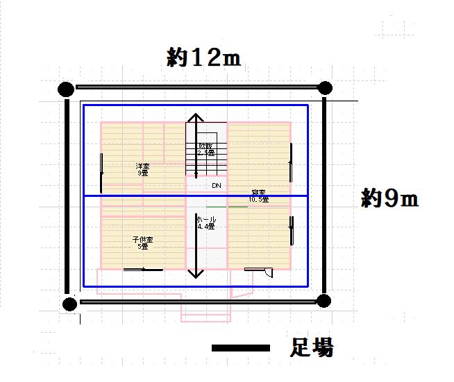 足場の設置平面図